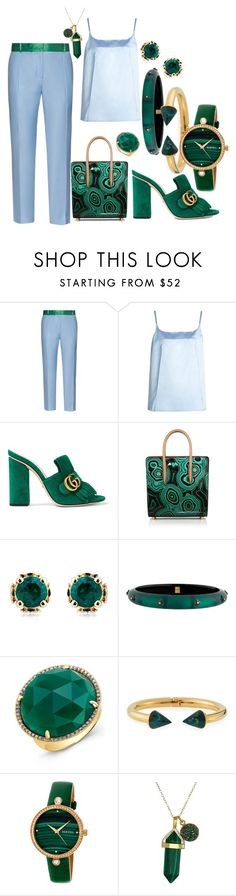 """""""Untitled #65"""" by joslinb ❤ liked on Polyvore featuring Racil, Nina Ricci, Gucci, Christian Louboutin, Theo Fennell, Alexis Bittar, Anne Sisteron, Vita Fede and Dee Berkley"""