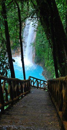 La Fortuna ~ Rio Celeste ~ Waterfall near Arenal Volcano, Costa Rica, More at  > http://www.arenal.net/la-fortuna-waterfall-costa-rica.htm