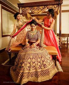 Bride Photos With Bridesmaids! Indian Wedding Photography Poses, Indian Wedding Photos, Indian Bridal Outfits, Bride Photography, Wedding Poses, Wedding Venues, Wedding Dresses, Wedding Shoot, Wedding Lehanga