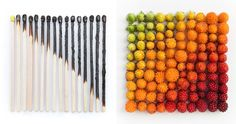 Emily Blincoe, a photographer from Austin, Texas, creates beautiful, colorful and soothing photos of everyday objects by arranging them into neat and orderly collections based on size, shape and color. The simple and beautiful patterns in her images are profoundly calming!