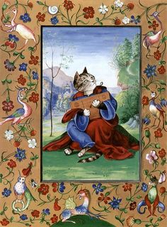 """King David (Cats Medieval)"" par Susan Herbert"