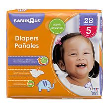 Babies R Us Diaper Size 5 Jumbo Pack  28ct