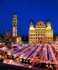 Christmas market in Augsburg, Germany. And,  ohhh how I loved walking around with hot apple cider.