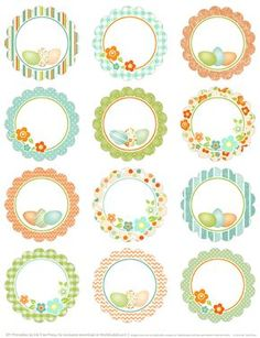 Round Easter Labels - free printables on Blog Worldlabel