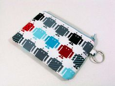 Robot coin purse zipper pouch cell phone holder wtih by purseNmore, $9.00