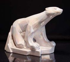 Sunset Ceramics polar bear. Newlyn.