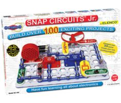 Build 101 different electronic projects. Elenco Snap Circuits Jr comes with over 30 pieces to create 101 different electronic projects. the pieces. Circuit Components, Snap Circuits, Scientific Drawing, Discovery Kit, Electronic Kits, Electronic Circuit, Electronic Devices, Electronics Basics, Electronics Gadgets