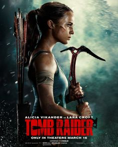 Based on the 2013 re-boot of the Tomb Raider video game series, see Oscar winner Alicia Vikander take to the big screen as the titular heroine before she became known as Lara Croft - Tomb Raider. Tomb Raider Full Movie, Tomb Raider Film, Tomb Raider 2018, Tomb Raider Alicia Vikander, Tomb Raider Lara Croft, Hd Movies Online, 2018 Movies, Imdb Movies, Tom Raider