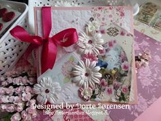 Fasters korthus: Pink flower card no 2