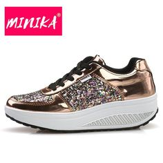 MINIKA Women Comfortable Platform Sneakers - TunLov Platform Sneakers 20a9a196e56e
