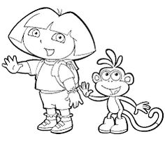 Image result for dora and boots faces printable picture for cake
