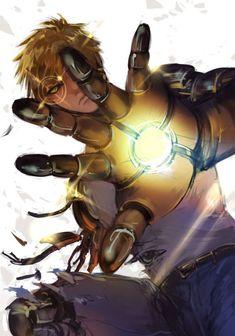 Genos-one punch man,Awesome art. Saitama, Anime One, Anime Guys, Manga Art, Manga Anime, One Punch Man Manga, Otaku, Image Manga, Male Cosplay