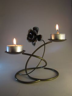 hand made israel tea light holder metal candle holder by babo4kin, ₪127.00