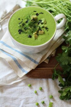 Raw, Simple + Savory: Snap Pea, Parsley & Dill Soup #raw #vegan // Vidya Cleanse