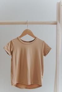 Scooped hem Slightly Slouchy fit Fabric content: rayon from bamboo, spandex *Size chart can be located in the photo section Modern Kids, Basic Tops, Clothing Co, Toddler Outfits, Kids Wear, Capsule Wardrobe, Size Chart, Kids Fashion, Summer Outfits