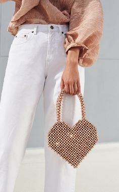 Click Product to Zoom Loeffler Randall Maria Beaded Heart Tote Beaded Purses, Beaded Bags, Tod Bag, Guess Handbags, Brown Bags, Luxury Bags, How To Make Beads, Handmade Bags, Fashion Bags