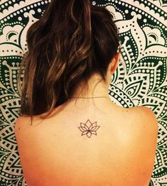 212c0612e simplistic lotus tattoo on upper back More #ad Lotus Tatoos, Lotus Tattoo  On Back