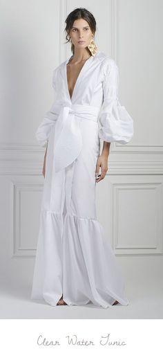 M'O Exclusive Clear Water Dress by Johanna Ortiz Love Fashion, High Fashion, Womens Fashion, Dress Skirt, Dress Up, Haute Couture Style, Mantel, Beautiful Dresses, Beachwear