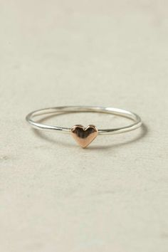 Heart Ring, Rose Gold Wee Heart Ring Love this so much!Wee Heart Ring Love this so much! Cute Jewelry, Jewelry Box, Jewelry Accessories, Jewelry Necklaces, Jewelry Design, Jewlery, Jewelry Stores, Jewellery Shops, Delicate Necklaces