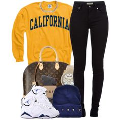 A fashion look from February 2014 featuring Burberry jeans, HUF socks and Louis Vuitton handbags. Browse and shop related looks.