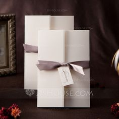 Wedding Invitations - $35.99 - Formal Style Gate-Fold Invitation Cards With Bows (set of 50) (114042261) http://jjshouse.com/Formal-Style-Gate-Fold-Invitation-Cards-With-Bows-Set-Of-50-114042261-g42261
