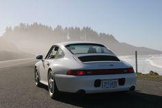 Stunning white Porsche 993 Carrera 4S on the west coast. #everyday993 #Porsche