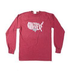 "Maroon ""Ain't Texas"" Long Sleeve T-Shirt"