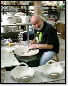Robin Hopper - glazemaster extraordinaire. (Although he is sometimes atmospherically challenged.)