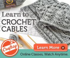 Introduction to Crochet Cables Craftsy Class by Shannon Mullett-Bowlsby