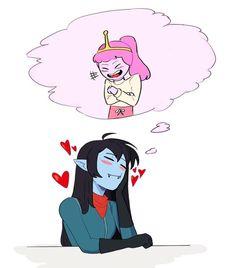 Cute Lesbian Couples, Lesbian Art, Adventure Time Marceline, Adventure Time Art, Marceline And Princess Bubblegum, Vampire Queen, Bubbline, Owl House, Anime Art Girl