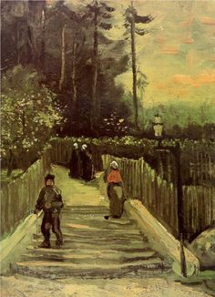 Sloping Path in Montmartre, Vincent van Gogh 1886, oil on canvas