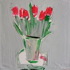 pink blooms against silver trays - alison mcwhirter