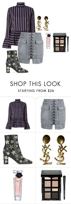 """""""christmas eve"""" by getdressedwithme on Polyvore featuring moda, Le Sarte Pettegole, WithChic, Valentino, Yves Saint Laurent, Lancôme i Bobbi Brown Cosmetics"""