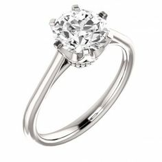 Round Shape Solitaire Engagement Ring