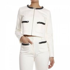 Jackets Woman Moschino Love Blazers For Women, Jackets For Women, Clothes For Women, Sporty Chic Style, White Shop, Skinny Pants, Moschino, Joggers, Active Wear