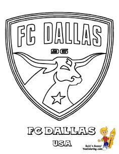 World #FIFA Team #Coloring_Page FC Dallas of USA You Can Print Out This #Soccer Coloring Page Now!... http://www.yescoloring.com/images/03w-FC-Dallas-Soccer-Futbol-at-coloring-pages-book-for-kids-boys.gif