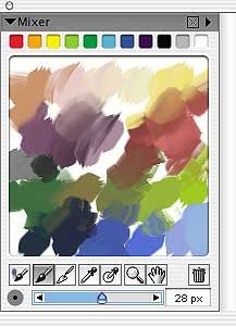 Painting with the Artists' Oils and the Mixer - Corel Painter