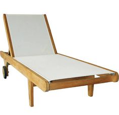 teak with mesh chaise - Google Search