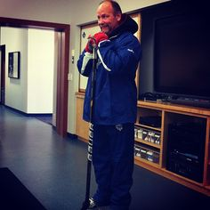 Wendel Clark at a recent Leafs Hockey School clinic.