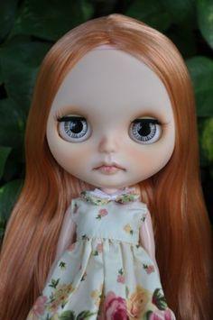Custom Factory Blythe Doll Light Orange Brown Hair with Light Blonde Highlight | eBay
