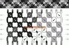 Normal Friendship Bracelet Pattern #6137 - BraceletBook.com