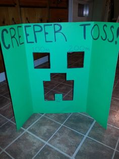MInecraft Birthday- Creeper Toss
