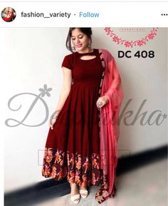 If u like it SAVE IT & FOLLOW ME!!! #WomendressesCalvinKlein Kalamkari Dresses, Ikkat Dresses, Long Gown Dress, Frock Dress, Fancy Blouse Designs, Dress Neck Designs, Frock Models, Long Dress Design, Frocks And Gowns