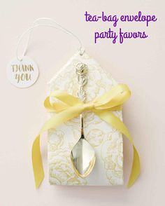 """Inspired by """"Beaty and the Beast,"""" these elegant tea-bag party favors are the perfect way to thank guests for attending your baby or bridal shower."""