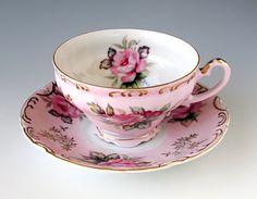 Lefton China Handpainted Tea Cup and Saucer by TeacupsAndOldLace