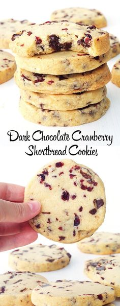 Easy Dark Chocolate and Cranberry Shortbread Cookies that melt in your mouth! Slice and bake cookies that can sit in your freezer and baked whenever you want! Buttery melt-in-your-mouth Dark Chocolate Cranberry Shortbread Cookies. Icebox Cookies, No Bake Cookies, Cookies Et Biscuits, Holiday Cookies, Baking Cookies, Christmas Shortbread Cookies, Freezer Cookies, Thumbprint Cookies, Cookie Icing