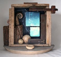 Catherine Nash: Resources for Papermaking, Encaustic and Photography: reconfiguration: mixed media assemblage