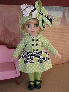 """New 6 PC Outfit Fashion w Shoes Patsy Ann Estelle TONNER10"""" Doll All Dressed Up   eBay. Ends 2/23/14. Sold for $46.99."""