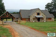 Hybrid Home Gallery : Appalachian Log & Timber Homes - Rustic Design for Contemporary Living. Pole Barn House Plans, Pole Barn Homes, Garage Plans, Cabin Homes, Log Homes, Metal Building Homes, Building A House, Carport Designs, Carport Ideas