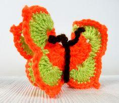 Motylek pomarańczowo-zielony - dekoracja - FikuMikuShop - Dekoracje